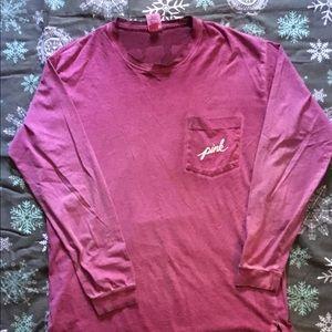 Victoria's Secret Pink long sleeved shirt. Sz M